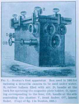 cámara subacuática de Louis Marie Auguste Boutan