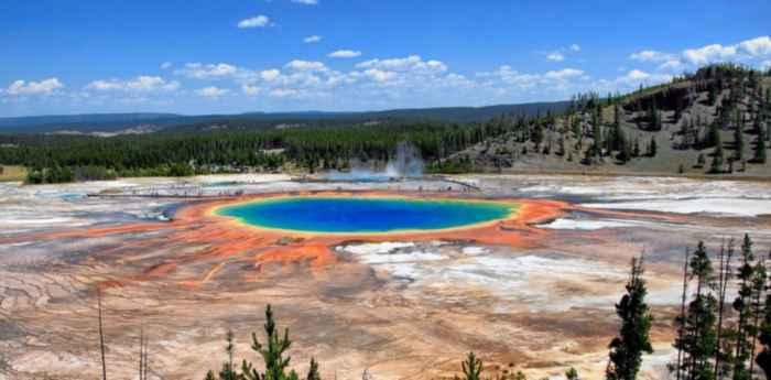 fuentes hidrotrermales de Midway Geyser Basin