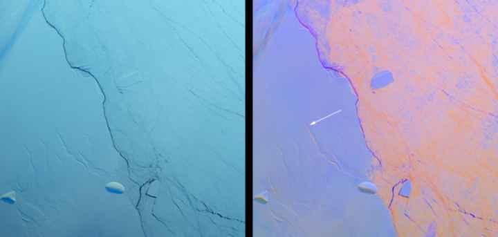 grietas transversale en la plataforma Larsen C