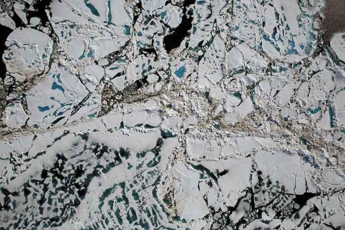 hielo marino en el mar de Chukchi