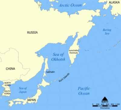 mapa de situación Sakhalin Island