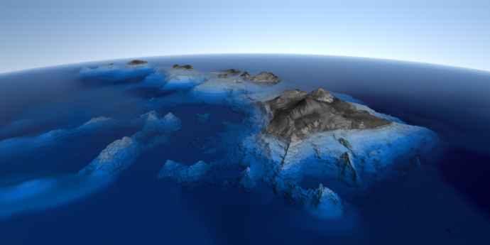 parte submarina del Mauna kea
