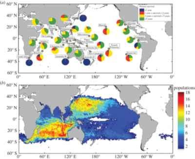 serpientes marinas venenosas, distribución