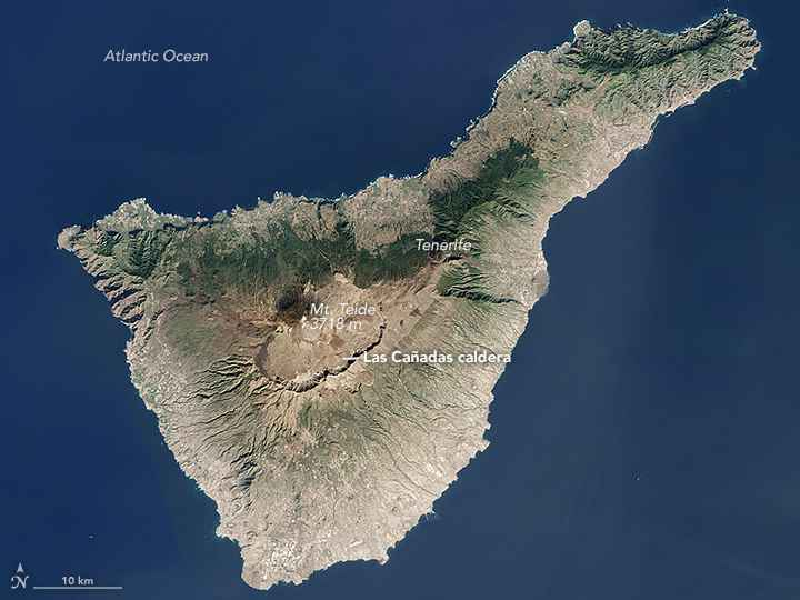 Isla de Tenerife desde satélite