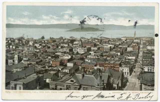 vista general de San Francisco antes del terremoto de 1906
