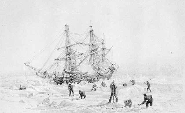 el HMS Terror en el Ártico