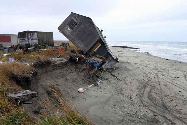 Shishmaref, Alaska - casa abandonada