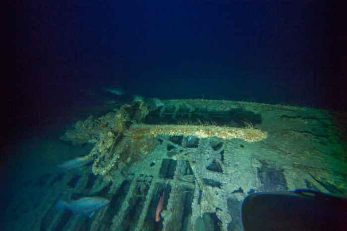 cañón  de la cubierta del submarino alemán U-576