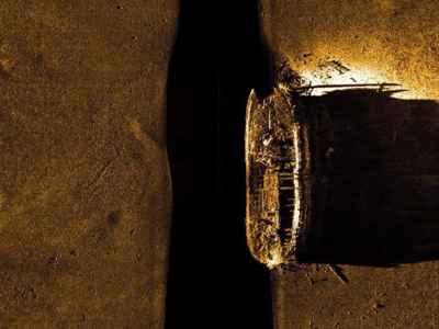 imagen de sonar del naufragio del HMS Erebus