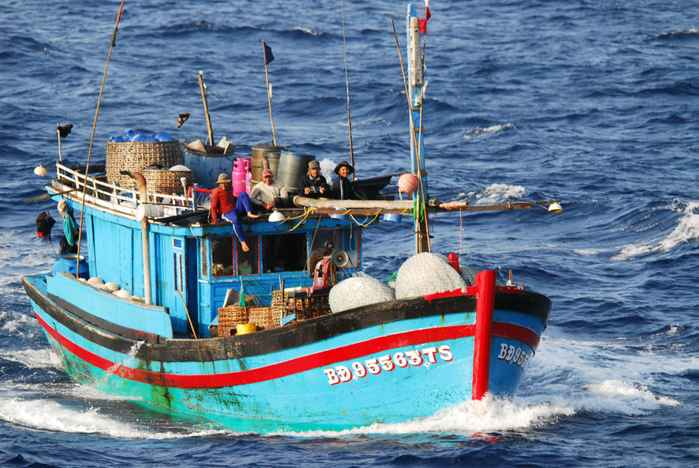 barco de pesca de Filipinas