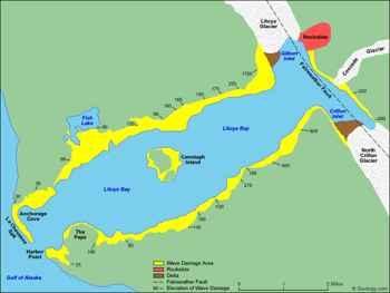 mapa de Lituya bay