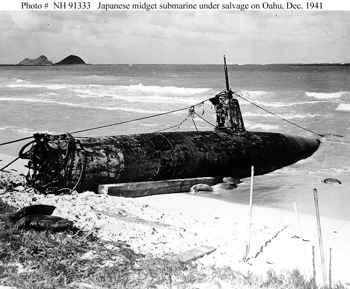 mini submarino japonés destruido en Hawái