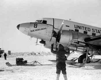avión Que Será Será en el Polo Sur