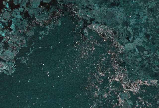 seguimiento de icebergs por satélite