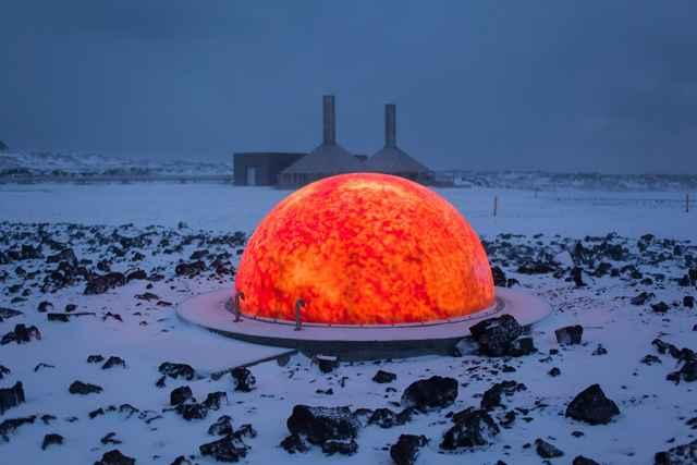 simulación de magma en Islandia