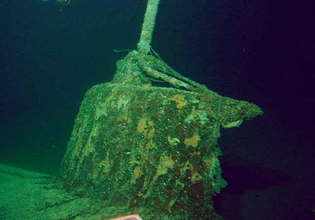 torre del minisubmarino japonés hundido por el USS Sala