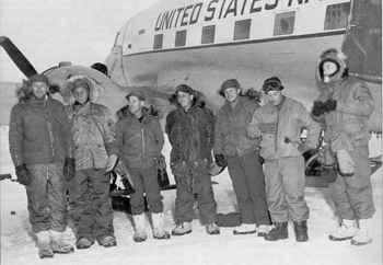 tripulación del avión Que será será en el Polo Sur
