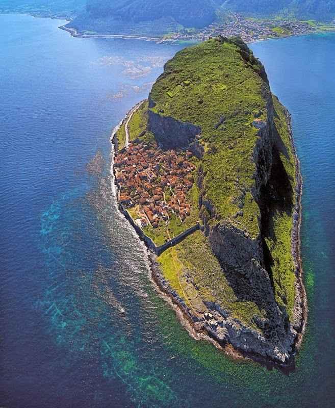 vista aérea de Monemvasia