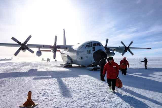 un vuelo actual al Polo Sur