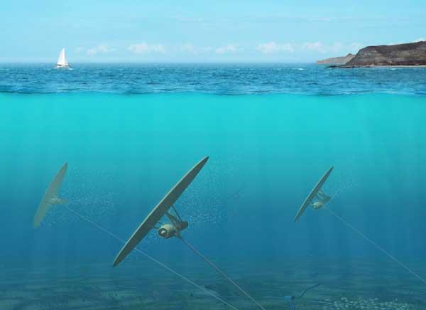 cometas submarinas con generador de energía