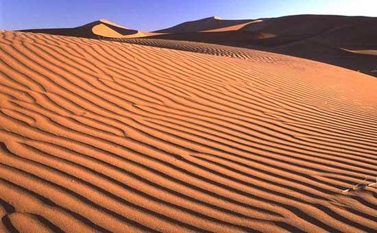 dunas en el desierto de Namib
