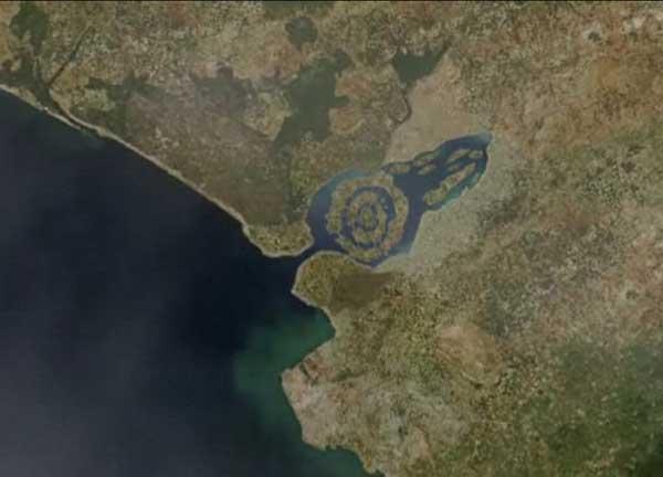 imagen  de satélite de la supuesta Atlántida