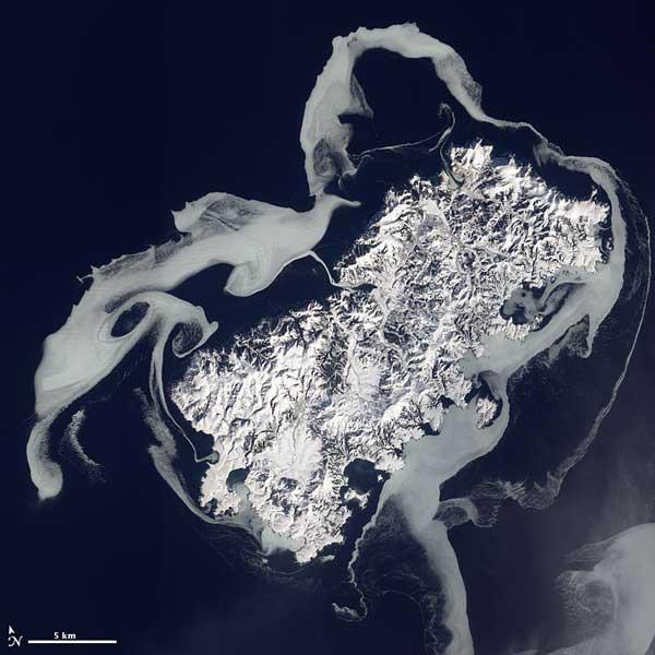 Isla de Shikotan, foto NASA