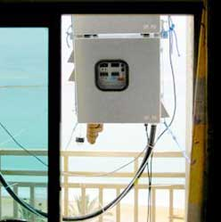 medidor de mercurio en la atmósfera usado en el Mar Muerto
