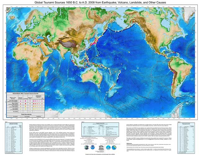 poster global histórico de tsunamis en el mundo
