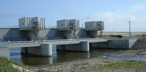 puente en las Islas Okushiri, Japón