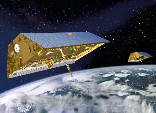 satélites gemelos misión Grace sobre el océano