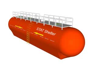 statim shelter system, refugio contra tsunamis
