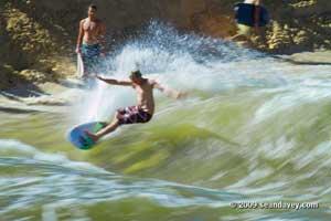 surf en el río Waimea, Hawai