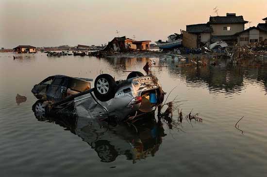 tsunami Japón, zonas inundadas por el mar