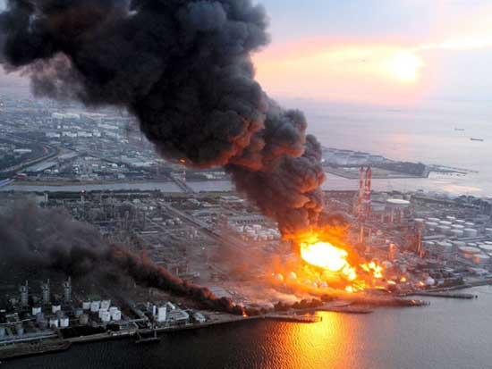 terremoto y tsunami Japón 11 de marzo 2011, incendios