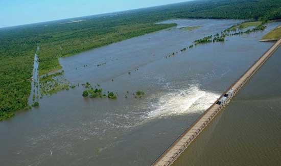 inundación Louisiana, apertura Cauce Morganza
