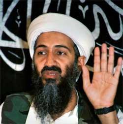 Bin Laden en 1988 durante una conferencia de prensa