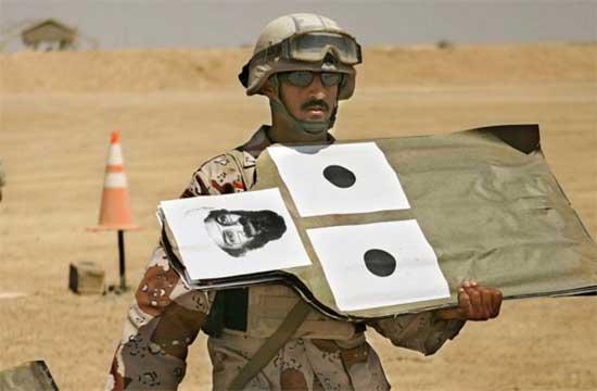 blanco con foto de Bin Laden