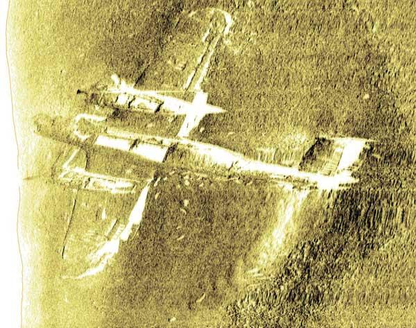 Dornier-17 sumergido en Goodwin Sands, Inglaterra