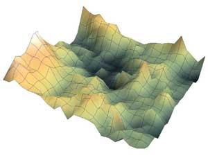 espesor de la nieve, ejemplo de mapa por ordenador