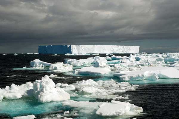 iceberg en el Mar de Weddell