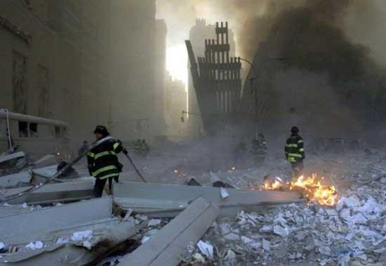 incendios tras ataque a las Torres Gemelas