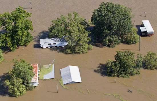 inundaciones en Louisiana, mayo 2011