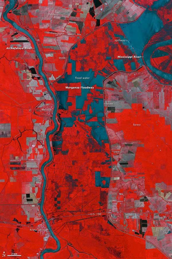 inundación río Mississippi mayo 2011, foto NASA