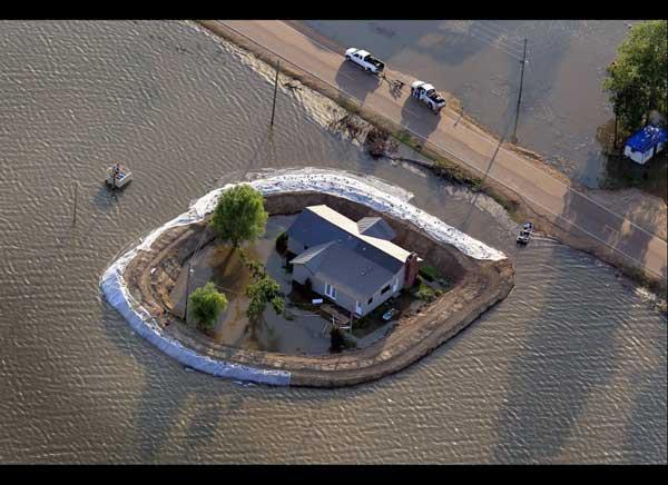 inundación del río Yazoo, alrededores de Vicksburg, Mississippi