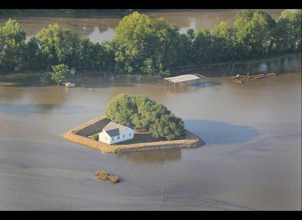 inundación del río Yazoo, alrededores de Vicksburg