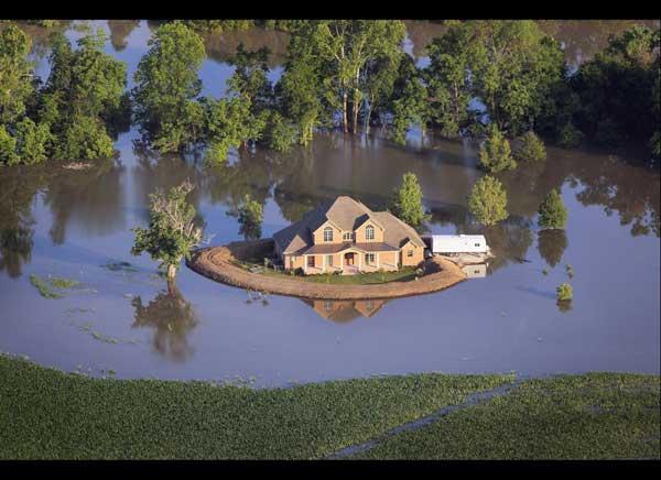casas convertidas islas inundaciones Mississipi