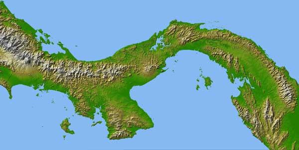 Istmo de Panamá, imagen NASA
