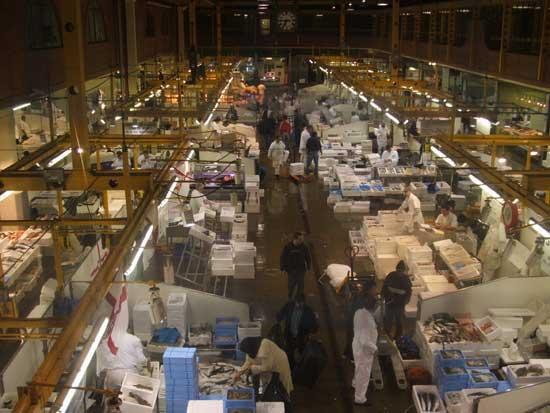mercado de pescado Billingsgate, Londres