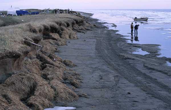 permafrost en la costa de Alaska